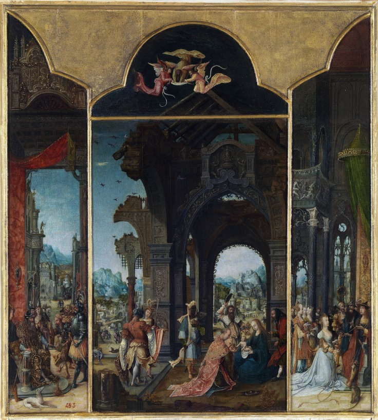La adoración de los Magos tríptico Pseudo-Blesius sala 3