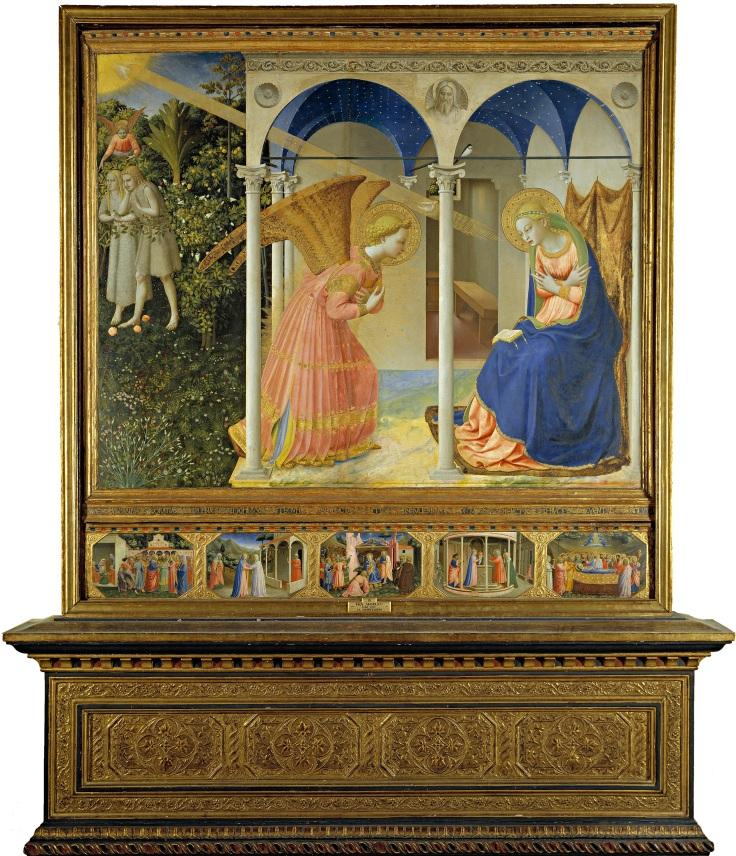 La Anunciación Fra Angélico Prado mp