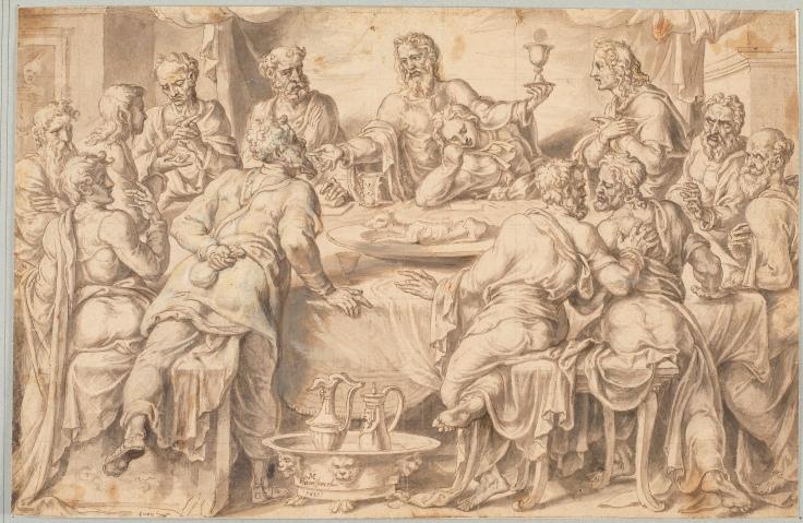 La Última Cena, Martín de Heemskerck. Intervención posterior de Pedro Pablo Rubens sala 7