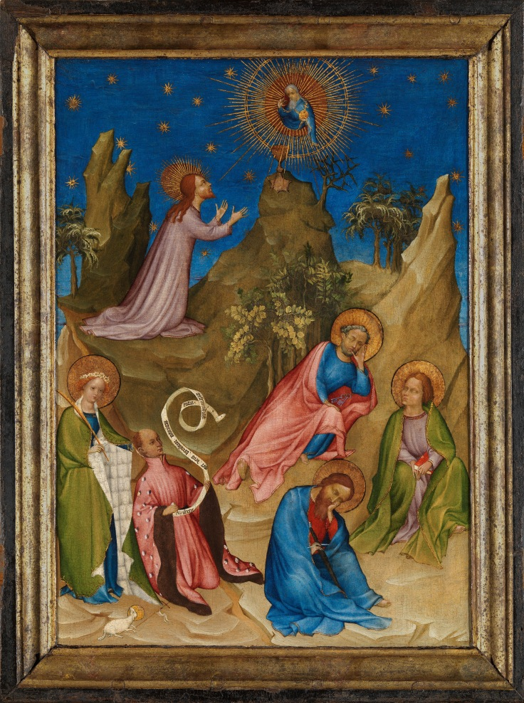 La Oración en el huerto con el donante Luis I de Orleans