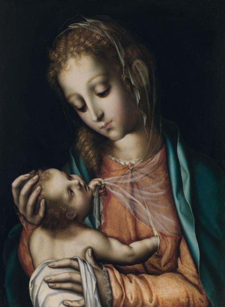 La virgen con el Niño Luis de orales sala 5