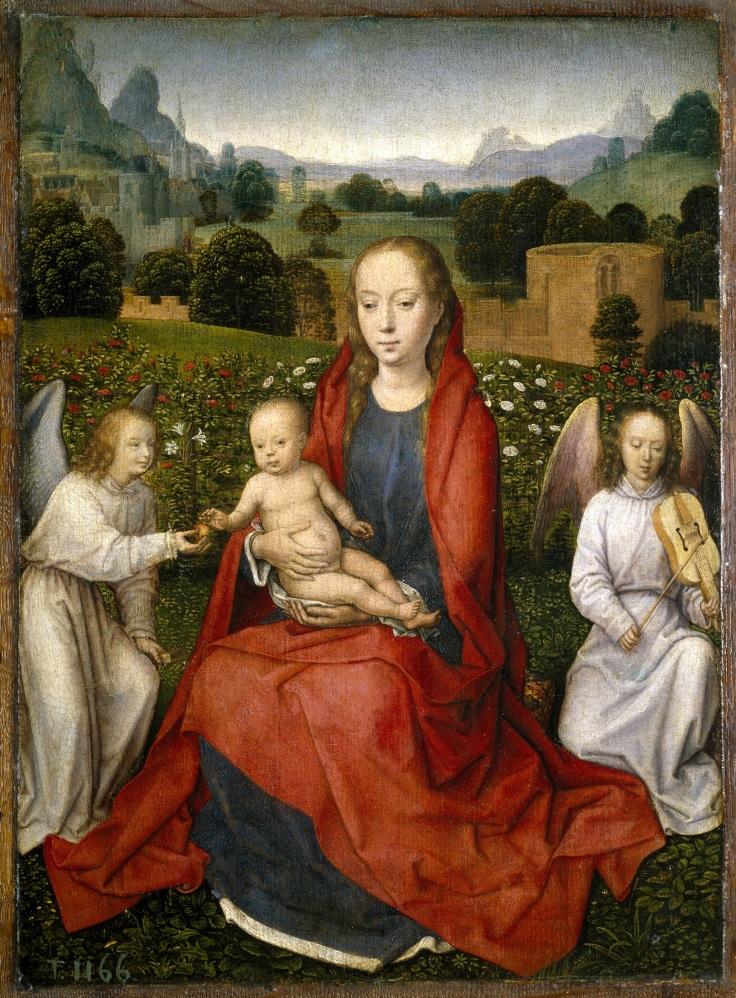 La Virgen y el Niño entre dos ángeles Hans Memling sala2mp