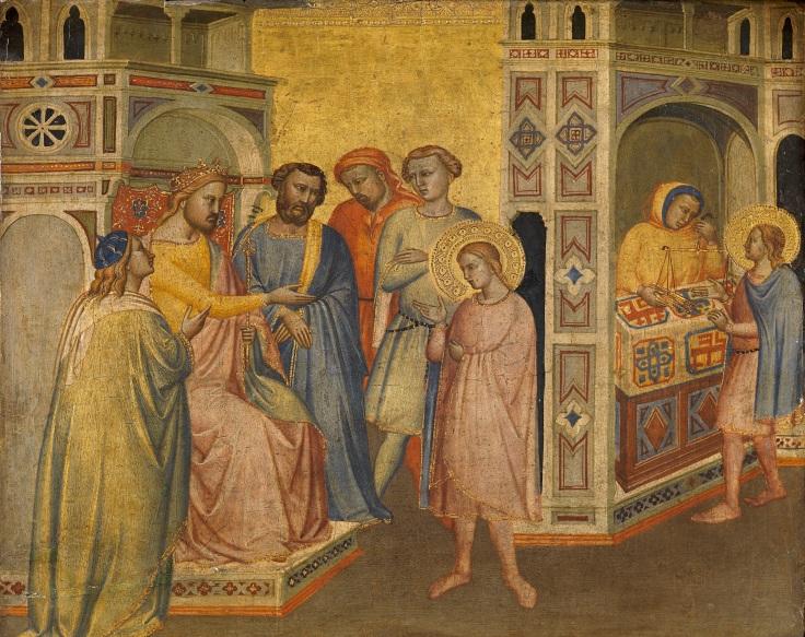 San Eloy ante el rey Clotario Maestro de la Madonna della Misericordia sala2mp