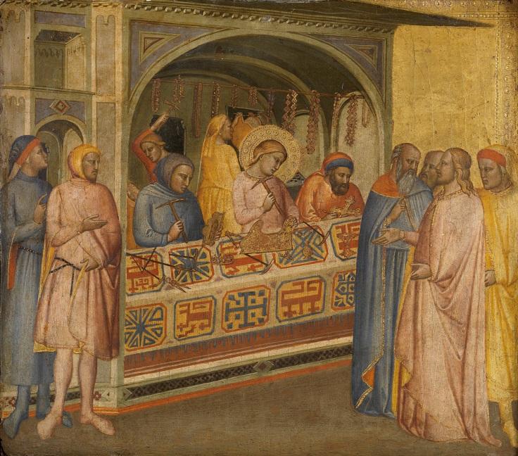 San Eloy en el taller de orfebrería Maestro de la Madonna della Misericordia sala2mp