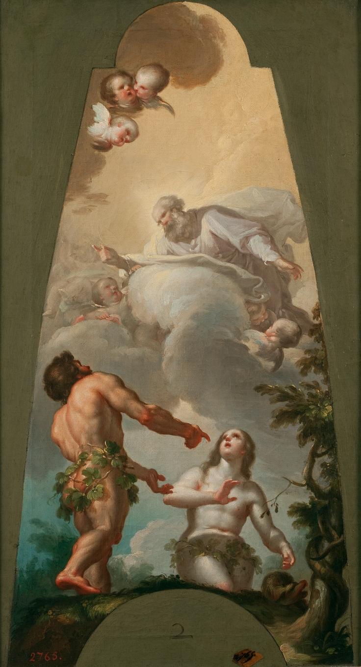 Adán y Eva reconvenidos por su pecado, Francisco Bayeu y Subías