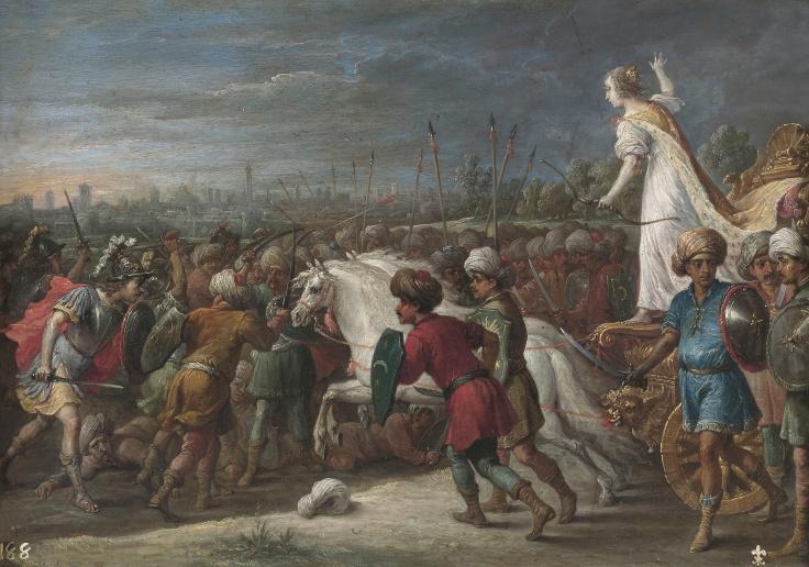 Armida en la batalla frente a los sarracenos, David Teniers