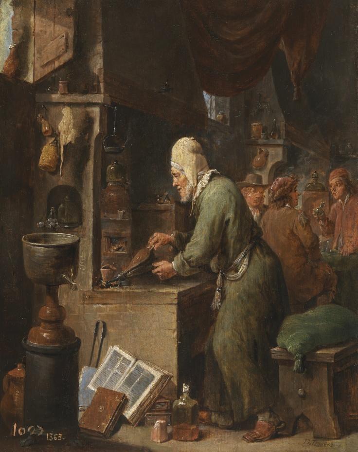 El alquimista, David Teniers