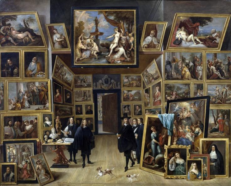 El archiduque Leopoldo Guillermo en su galería de pinturas en Bruselas, David Teniers