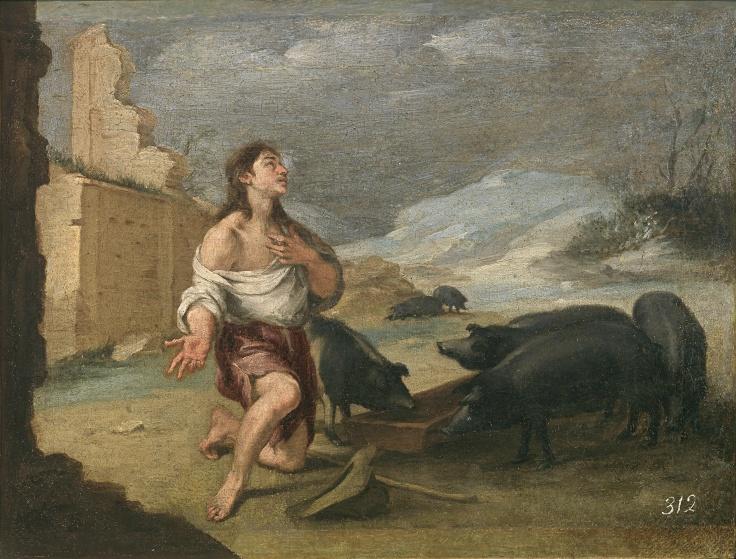 El hijo pródigo abandonado, Bartolomé Esteban Murillo