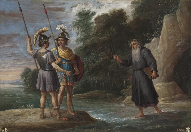 El mago descubre a Carlos y Ubaldo el paradero de Reinaldo (La búsqueda de Reinaldo),David Teniers