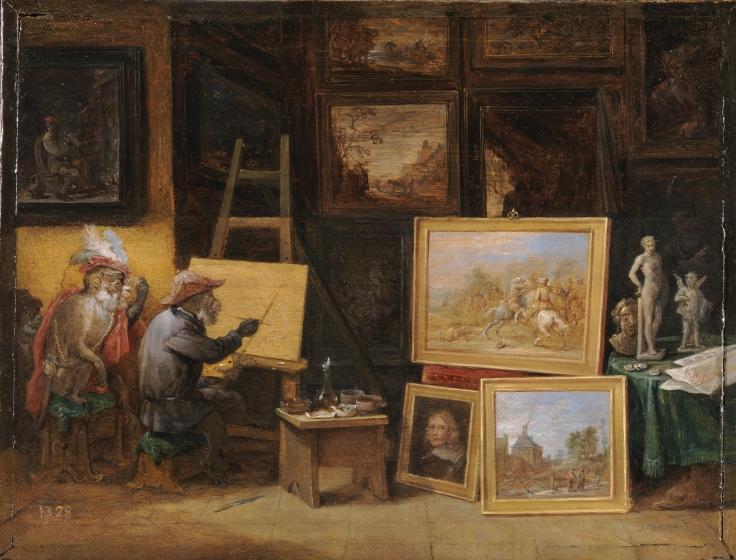 El mono pintor, David Teniers