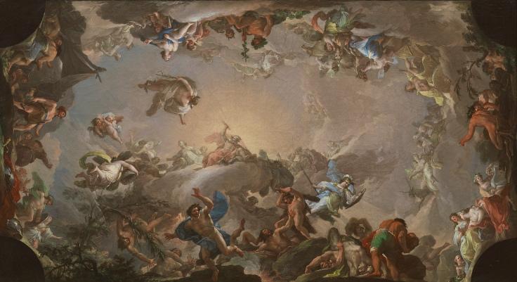 El Olimpo. Batalla de los gigantes, Francisco Bayeu y Subías