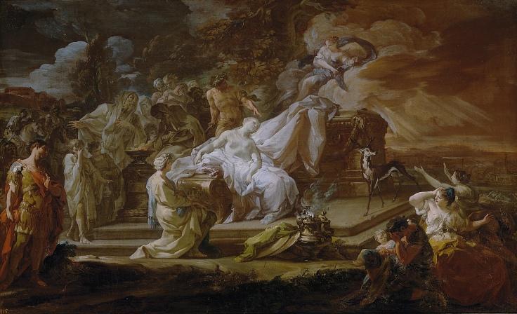 El sacrificio de Ifigenia, Corrado Giaquinto
