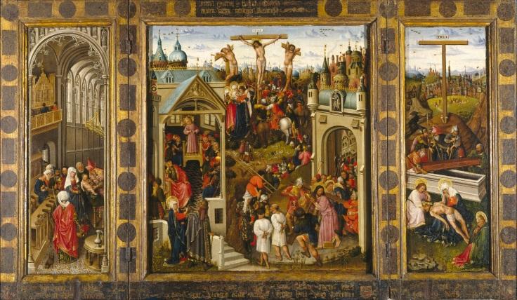 La Anunciación. Puertas exteriores del Tríptico con pasajes de la vida de Cristomp