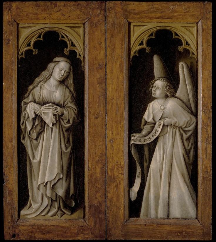 La Anunciación. Puertas exteriores del Tríptico con pasajes de la vida de CristoREVersomp