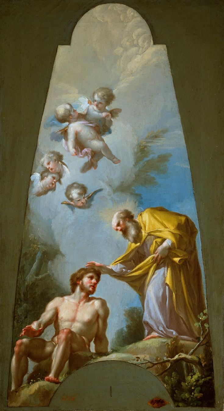 La creación de Adán, Francisco Bayeu y Subías
