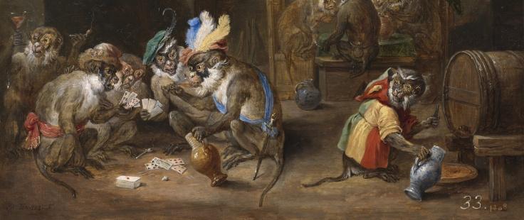 Monos en una bodega, David Teniers r