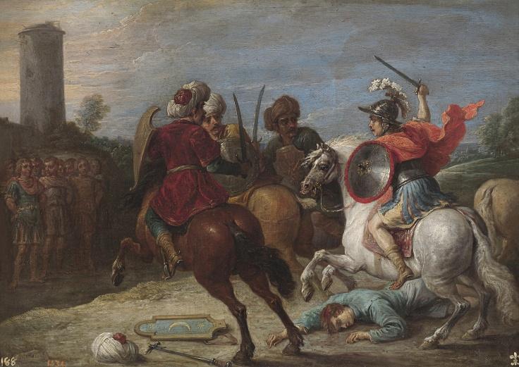 Proezas de Reinaldo frente a los egipcios, David Teniers