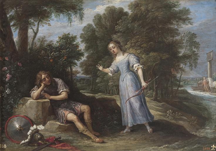 Reinaldo enamorado de Armida, en la isla de Orontes, David Teniers