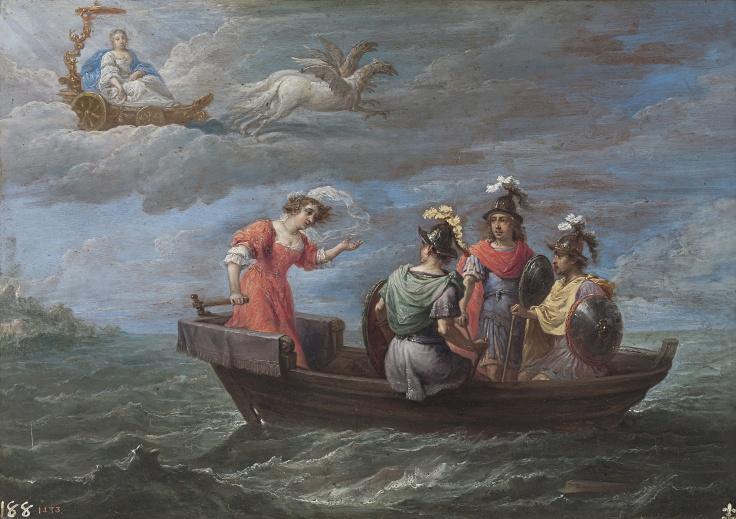 Reinaldo huye de las islas Afortunadas, David Teniers