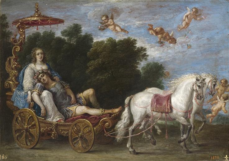 Reinaldo llevado en sueños a las islas Afortunadas, David Teniers