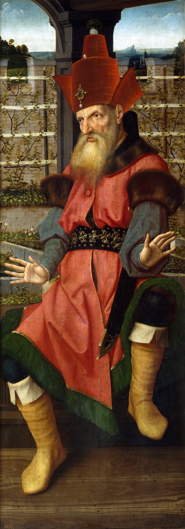 San Bernardino de Siena. Reverso de Zacarías, Jan Provost