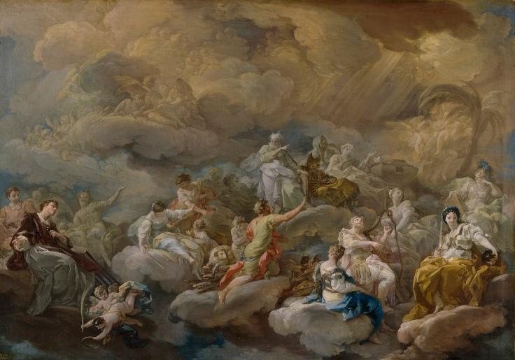 San Lorenzo en la Gloria, (Gloria de Santos), Corrado Giaquinto