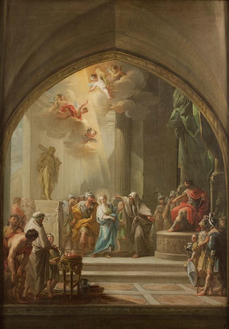 Santa Leocadia ante el pretor, Mariano Salvador Maella