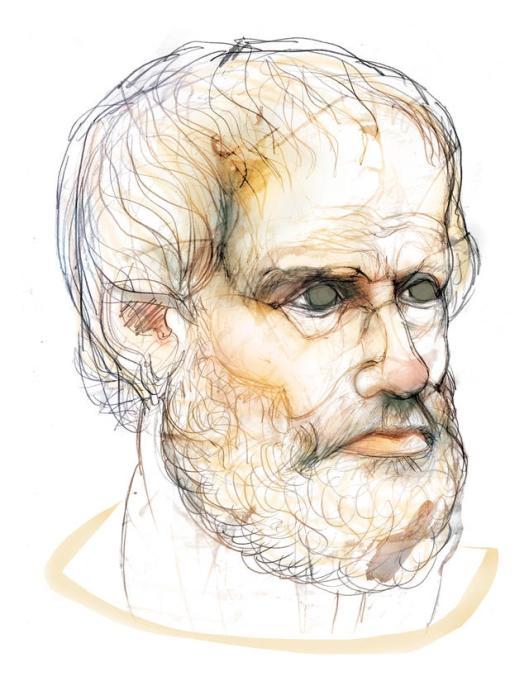 'Física' de Aristóteles de Estagira (384-322 a. C.). El primer paradigma centrado en el estudio de la naturaleza de las cosas.