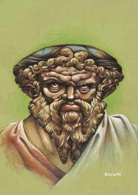 Pitágoras de Samos (en griego antiguo Πυθαγόρας) (Samos ca. 580 a. C. – Metaponto ca. 495 a. C.)