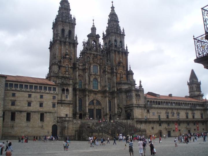 Fachada del Obradoiro Catedral de Santiago. (Para una visita de 360º, haz clic en la imagen o aquí).