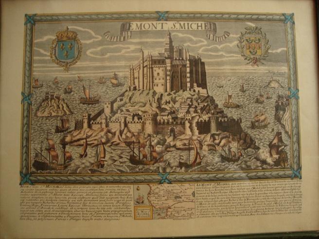 Mapa Bilingue de Le Mont St. Michel.