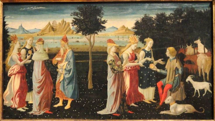 The_Judgment_of_Paris_by_the_Master_of_the_Argonaut_Panels,_c._1480,_Italian,_tempera_on_panel_-_Fogg_Art_Museum_-_DSC02374