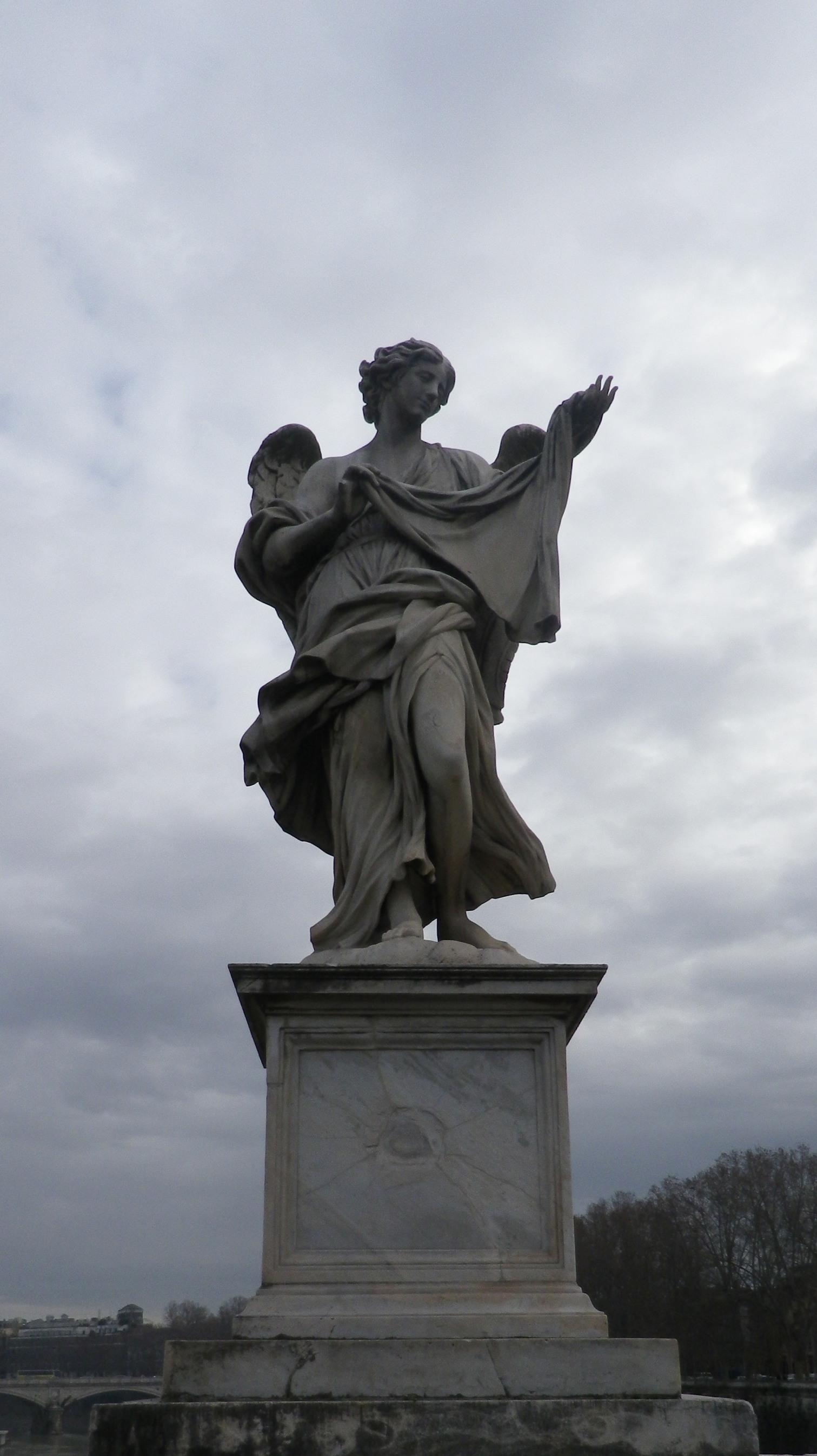 Ángel con el sudario (Velo de la Verónica) (Cosimo Fancelli, Respice faciem Christi tui)