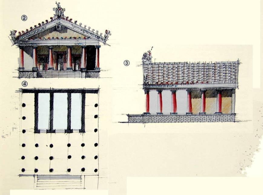 El templo etrusco.