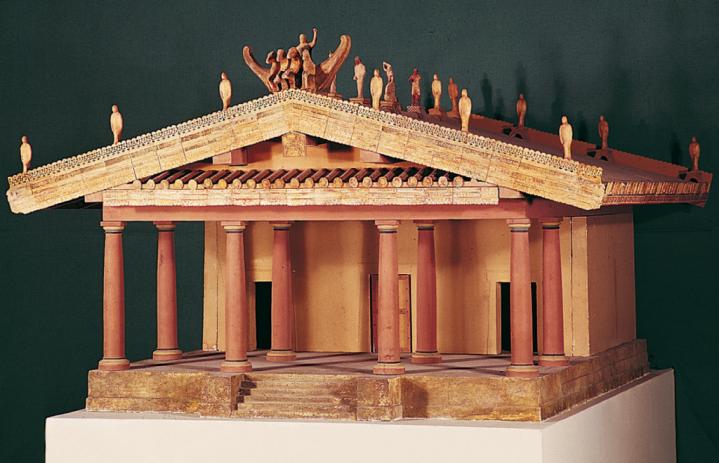 Maqueta de un Templo Etrusco.