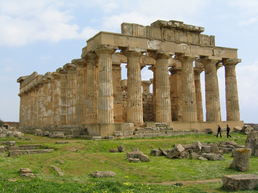 Selinunte; Templo E, también llamado Templo de Hera.