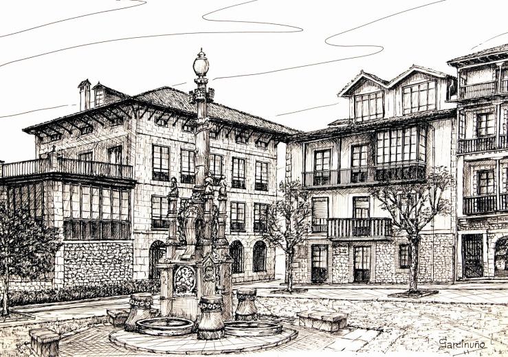 Fuente de los Tres Caños (1899).