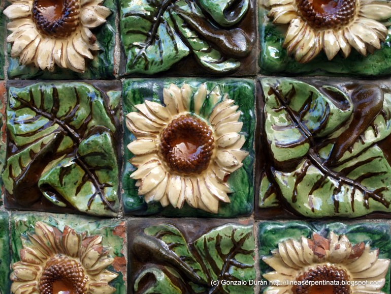 Piezas cerámicas de Girasoles.