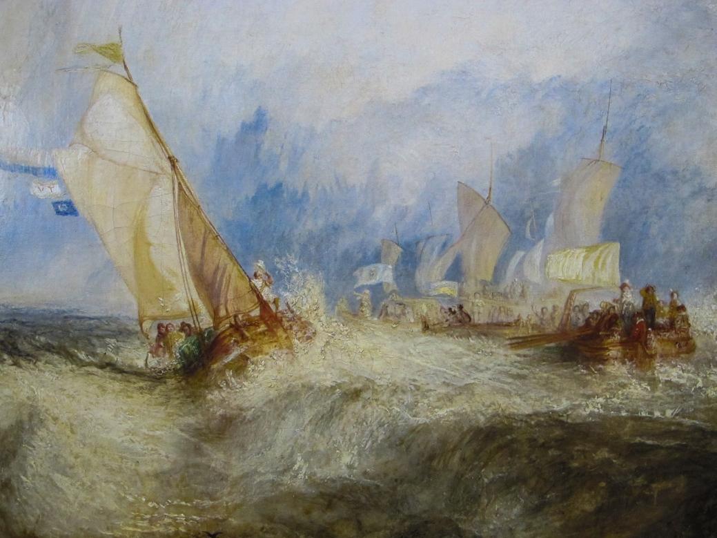 J.M.W. Turner, 1844. Óleo sobre lienzo, 91x122cm. Museo J. Paul Getty, Los Ángeñles, California. Estados Unidos.