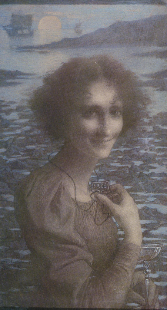 Lucien Lévy-Dhurmer Circe (1897).