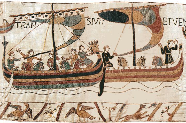 Caballos que se envían a Inglaterra por los normandos, antes de su invasión.