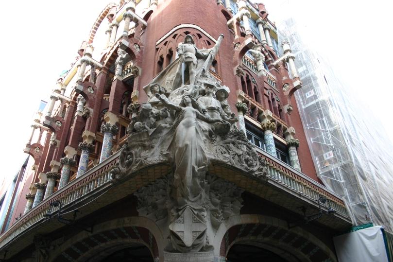 Palau de la Música Catalana. Arquitecto: Lluís Domènech i Montaner. Escultor: Miquel Blay. Barcelona