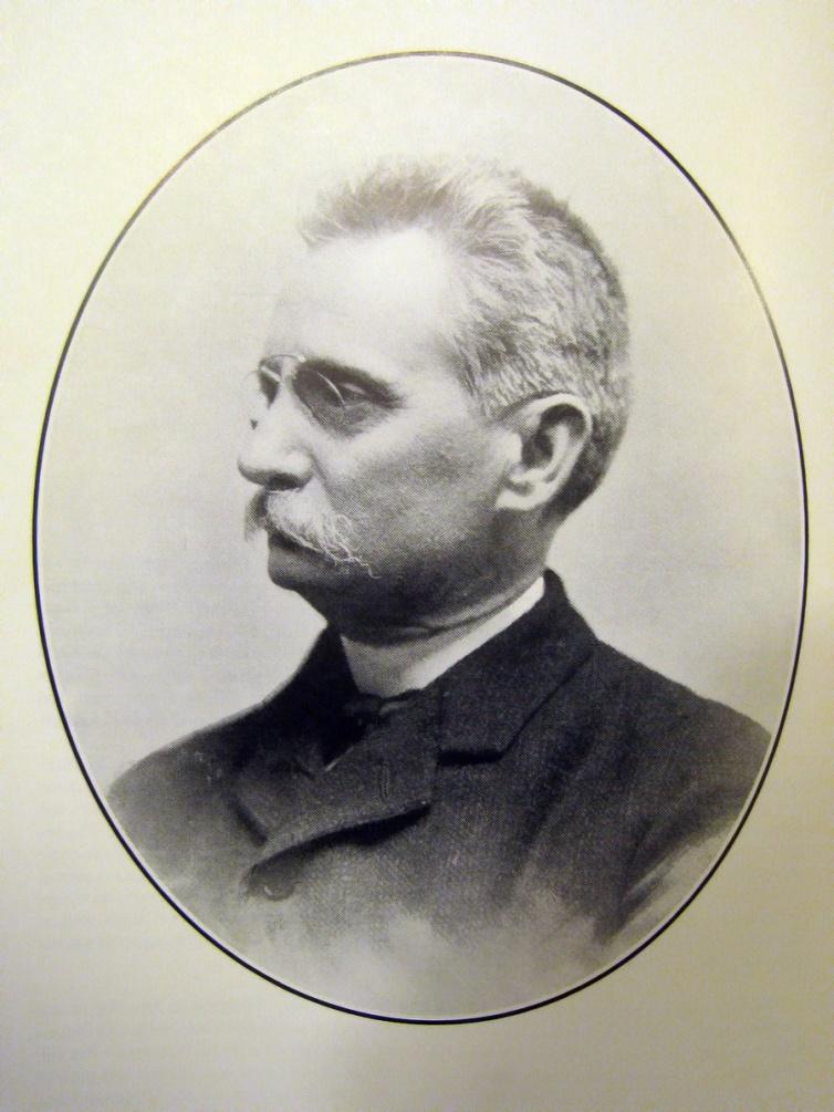 Retrato oficial de Lluís Domènech i Montaner de la época en la que estaba construyendo el Hospital de San Pablo (Barcelona).