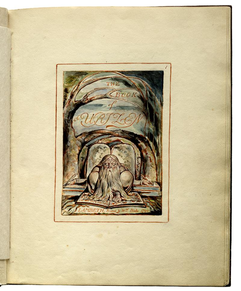 El libro de Urizen, William Blake, 1757-1827; Fecha de creación 1815 d. C. Fecha del contenido 1794 d. C. - 1815 d. C. Impreso por W. Blake, Lambeth.