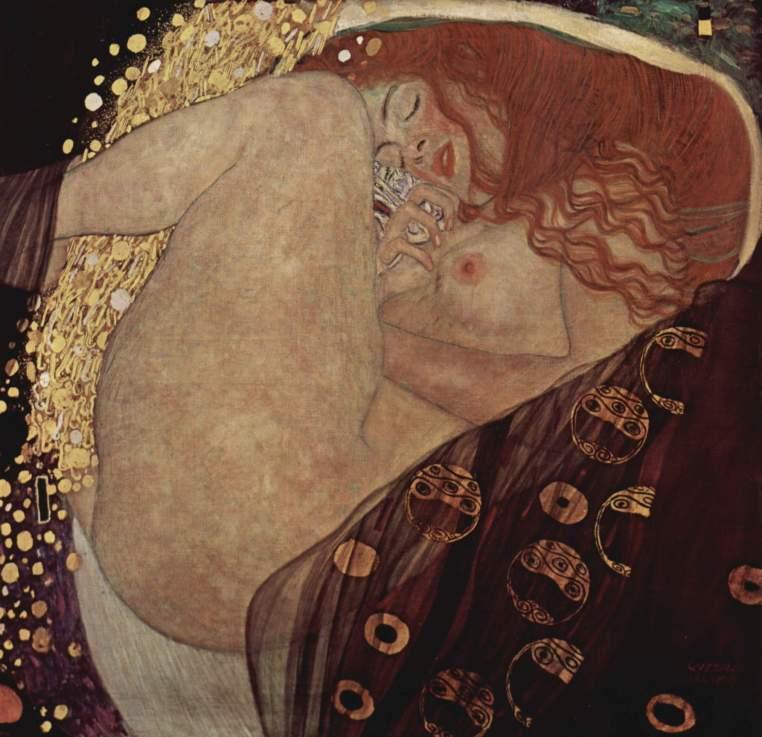 Gustav Klimt. Dánae. 1907-1908. Óleo sobre lienzo. 77 × 83 cm. Leopold Museum. Vienna.