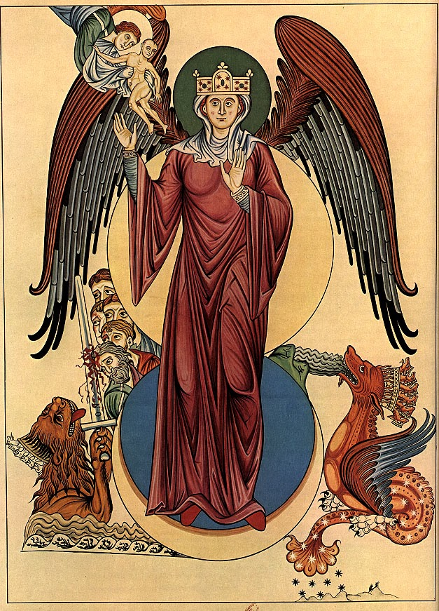 Woman of the Apocalypse (Hortus deliciarum).
