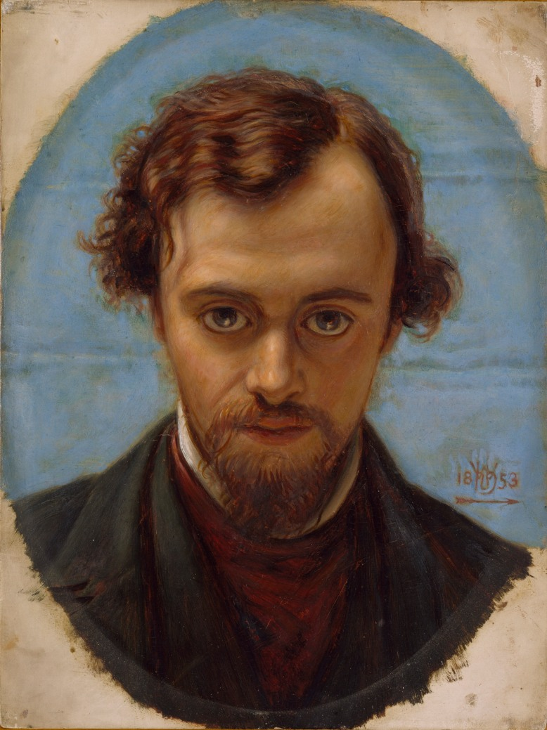 William Holman Hunt: Retrato de Dante Gabriel Rossetti (1853).