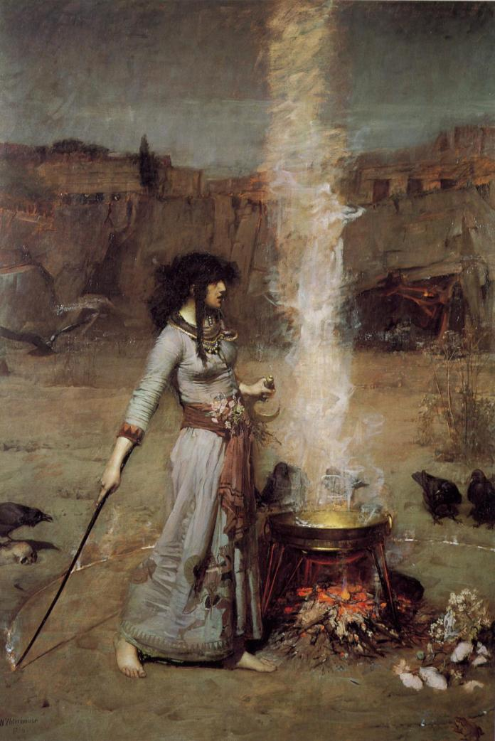 John William Waterhouse (1849–1917). Magic Circle. 1886. Óleo sobre lienzo . Tate Britain