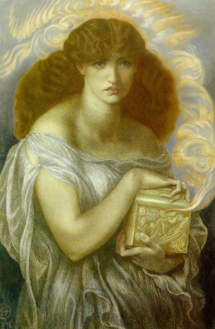 Dante Gabriel Rossetti, Pandora (1874-78), Óleo sobre lienzo, 97x64,8 cm. Lady Lever Art Gallery.
